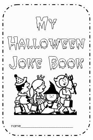 we mentioned the halloween joke book in our ideas for class parties and now you can download it for free students match the answers written on the board to - Free Printable Halloween Activity Pages