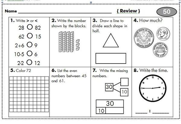 third grade homework packets