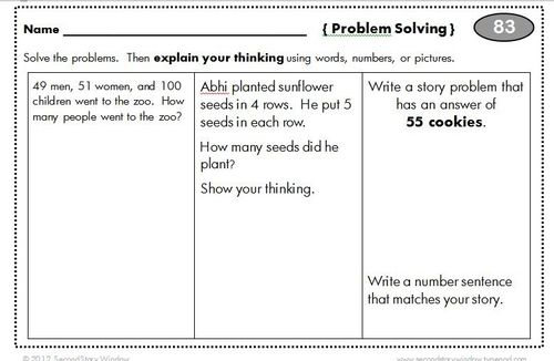 math worksheet : math problem solving activities for 4th graders  educational math  : Maths Problem Solving Worksheets